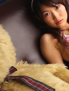 Noriko Kijima busty in pink lingerie is the sweetest doll