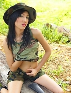 Our new girl Yoko Hasegawa is a spunky little 19 year old from the Chaiyaphum province of Thailand time to go hunting...