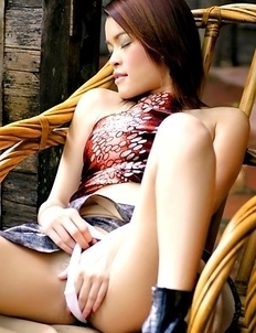 When gorgeous Kwan Galyarut stays home alone, all she wants is to satisfy her urges.
