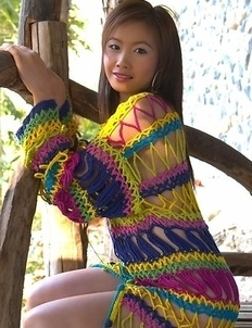Check out gorgeous Ferrari Fai as she poses in her knitted dress.