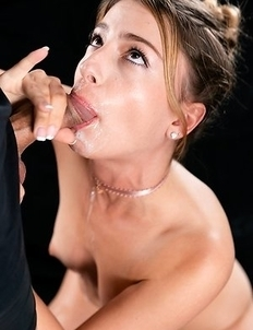 Kristen Scott Sucks with Her Cum Filled Mouth Pussy