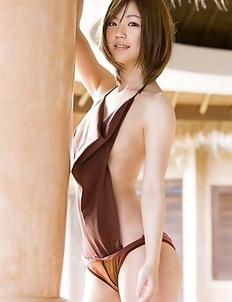 Japanese Asami Tani  with big naughty hooters has hot photo session