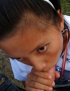 Filipina schoolgirl Sally