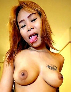 Thai girl Aom next door with big tits picked up and fucking on camera