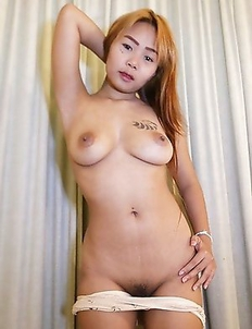 Tattoed Thai babe Aom next door sucks and mounts white cock cowgirl style