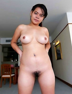 Chubby Thai Wa with beautiful heavy-hangers pleasing white traveler in hotel room