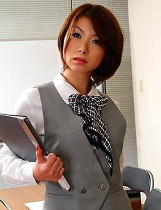 Hot Japanese office lady Tsubaki