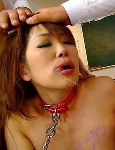 Yuuno Hoshi naked in class fucking