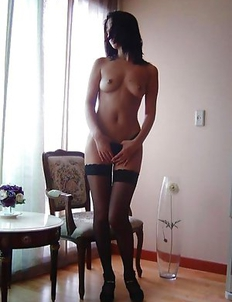 Wild Japanese honey strips naked while posing