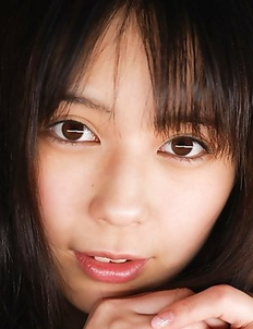 Ruka Kanae fondles her juicy nude cans and nude beaver too
