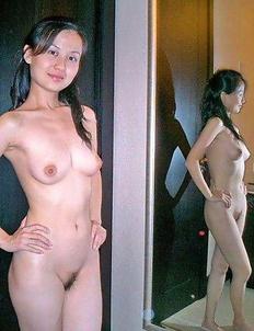 Hot Singaporean girlfriend strips naked