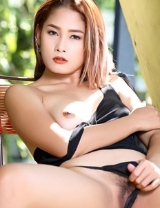 Sexy Asian cutie  Winny Sung masturbating outdoors