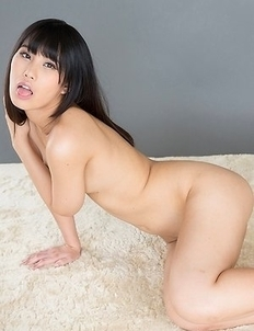 Kotomi Shinosaki poses with a vibrator before a guy explodes all over her thighs