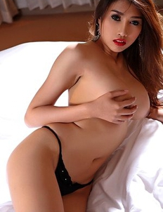 Big tits Asian Farsai stripping on bed