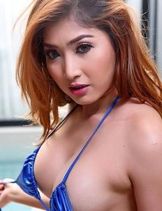 Cute  Asian Myra in bath