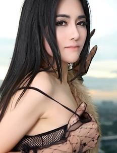 Hot Brunette Namfa in sexy black lingerie