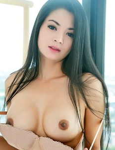 Beauty Asian brunette showing her huge boobd and fuck herself with pink dildo