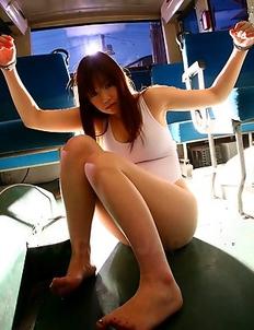 Teen Yayoi Yoshino gets handcuffed