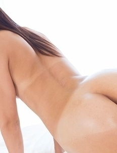 Beauty with bangs Shino Aoi gets her oiled-up ass hot-dogged until the guy orgasms