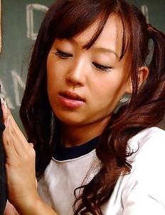 Sweet Nagisa sucks a big pecker