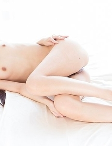 Slim and flat-chested Rio Kamimoto gets her pussy and feet fucked a bunch