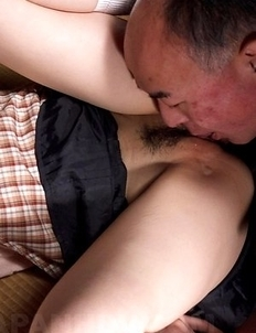 Hot An Kanoh has hairy slit rubbed and sucks