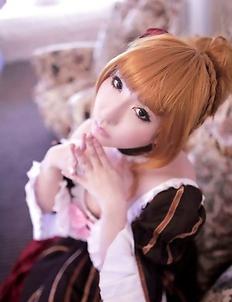 Saku is such perfect blonde doll in fantastic epoque dress