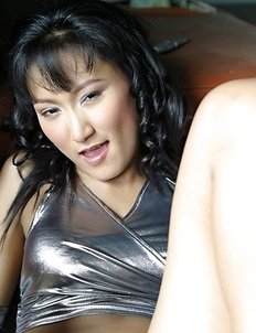 Beautiful Angela Lin shows how dangerous she is! Angela starts posing with knives and she enjoys playing dangerous.