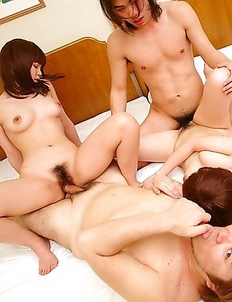 Rimu and Ueno Misaki in a foursome