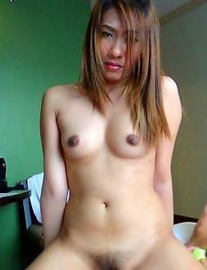 Filipina pussy stuffed by white cock