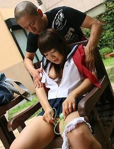 Teen Shino Mizusawa masturbates