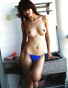 Japanese amateur slut with hairy pussy posing