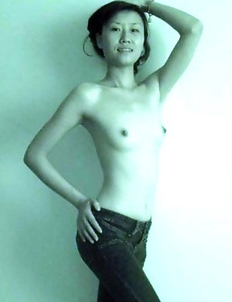 Chinese GF posing topless for her lover