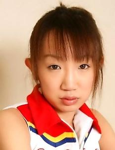 Young schoolgirl Ai Yumemi posing