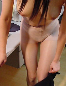 Amateur wild Asian GF stripping at the office