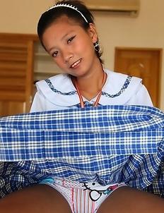 Lovely Filipina teen schoolgirl Sally
