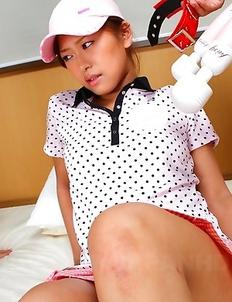 Golf girls Nana and Nao punished