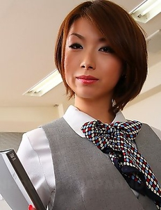 Hot Japanese office lady Tsubaki