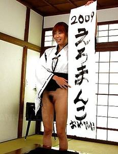 Dirty Yuuno Hoshi does calligraphy