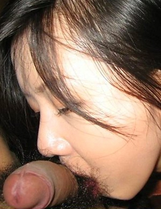 Korean GF giving head and getting jizzed on