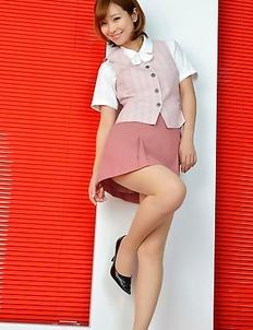 Ichika Nishimura has sexy legs in short skirt and heels