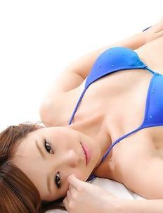 Ichika Nishimura in blue bath suit has such apettizing body