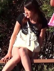 Girls Pissing - Park, Piss, Surprise!
